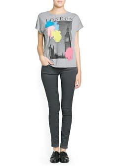 City print slub t-shirt