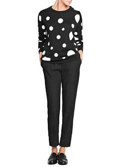 Maxi polka-dot loose-fit sweater