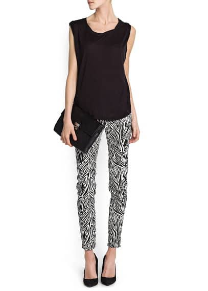 ANIMAL PRINT SLIM-FIT TROUSERS