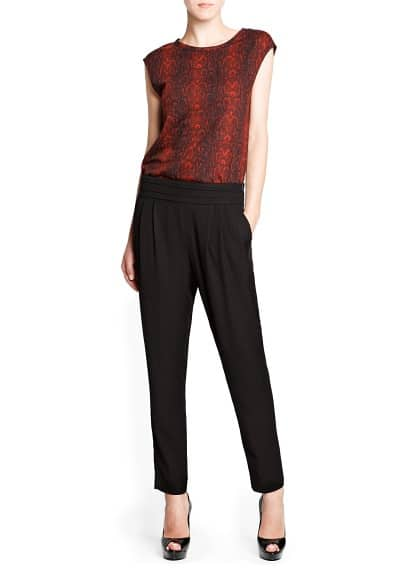 Textured baggy trousers