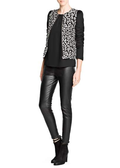 Leopard cotton-blend jacket