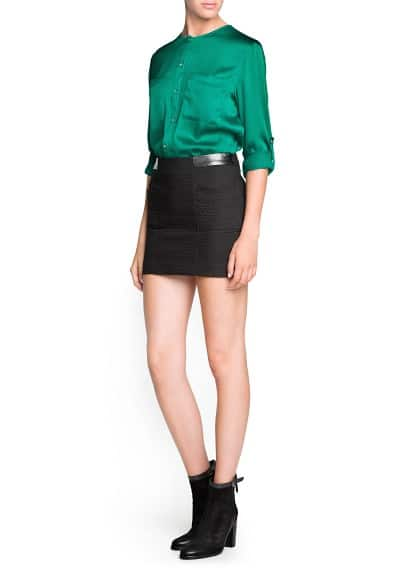Jacquard cotton miniskirt