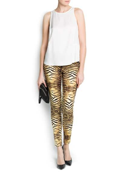 SLIM-FIT ANIMAL PRINT JERSEY TROUSERS
