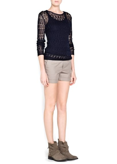 Open knit jumper