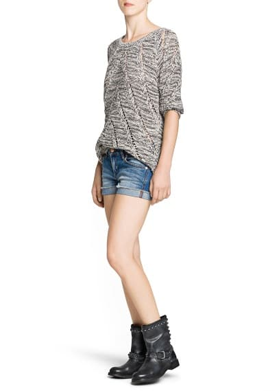 Flecked chunky knit sweater