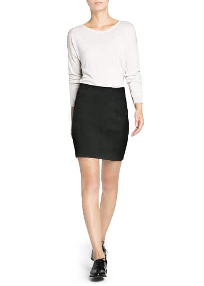 Modal wool-blend cropped sweater