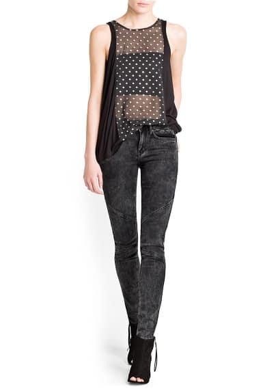 METALLIC POLKA-DOT TOP