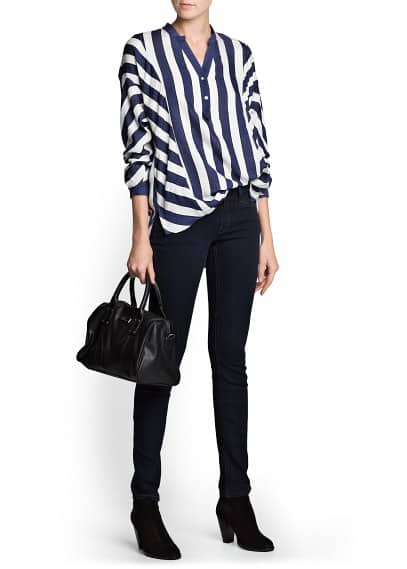PREMIUM - Dolman sleeve striped blouse