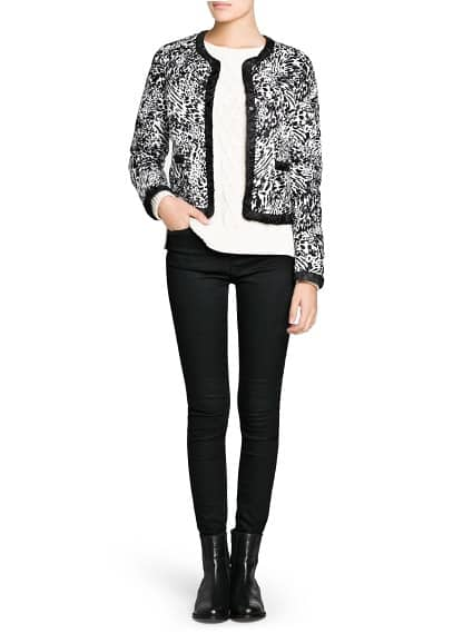Foldable printed short coat