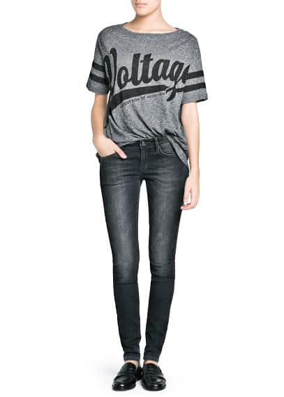 Super slim-fit grey Olivia jeans
