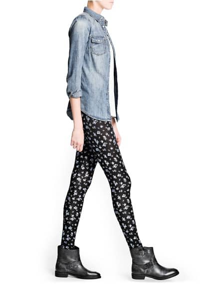 Leggings stampa liberty