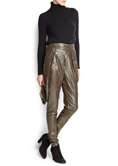 Sequin baggy trousers