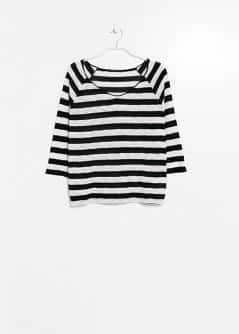 Striped Openknit T-Shirt