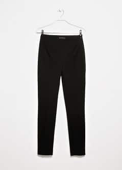 Slim-fit herringbone trousers