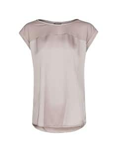 Satin panel lightweight t-shirt
