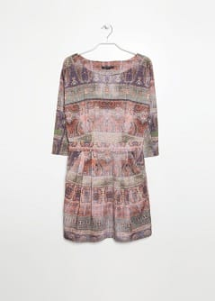 Faded paisley print dress