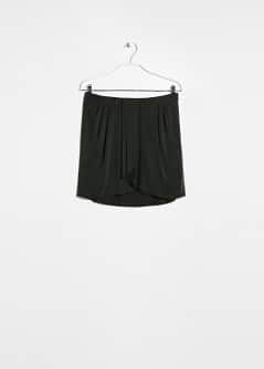 Draped cupro skirt