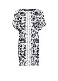 Combi print shift dress
