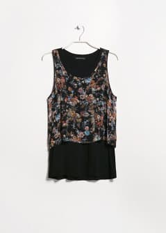 Double-layer chiffon top