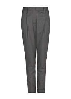 Merino wool-blend trousers