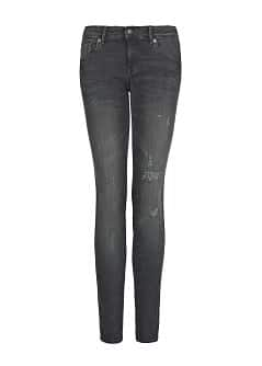 Slim-fit push-up black jeans