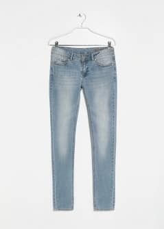 Slim-fit light wash jeans