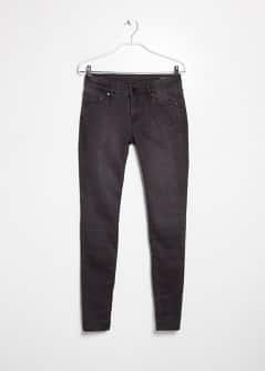 Super slim-fit black wash jeans