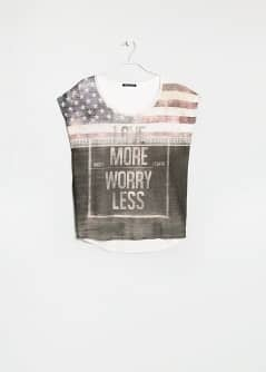 T-shirt love more worry less