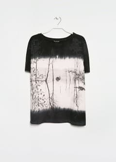 Faded landscape cotton t-shirt