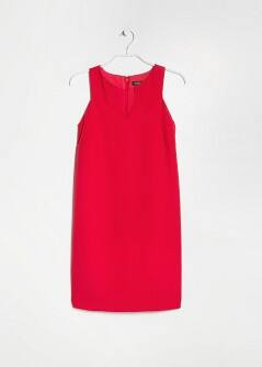 Crepe Shift Dress