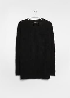 Pull-over long grosse maille