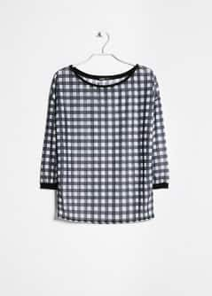 Gingham check t-shirt