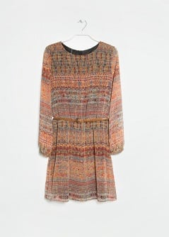 Persian print chiffon dress