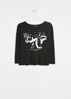 Modal cotton-blend cropped t-shirt