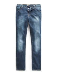 Straight-fit dark wash Bob jeans