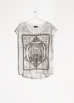 T-shirt imprimé baroque lion