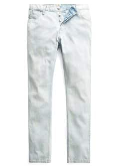 Straight-fit bleach wash Bob jeans