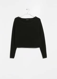 Pull-over cropped texturé