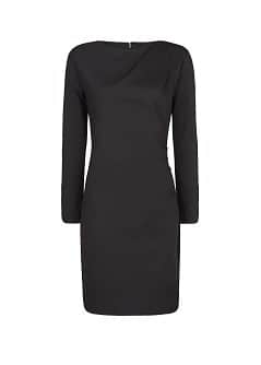 Draped side fitted dress