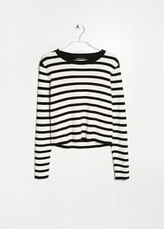 Pull-over cropped rayures