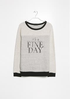 Fine Day Cotton Sweatshirt