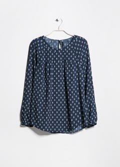 Blouse fluide à imprimé cravate
