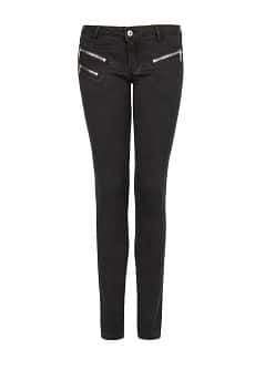 Super slim-fit zip black jeans