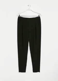 Textured Slim-Fit Baggy Trousers