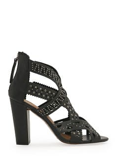 Laser-cut leather sandal