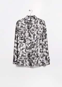 Watercolor effect check shirt