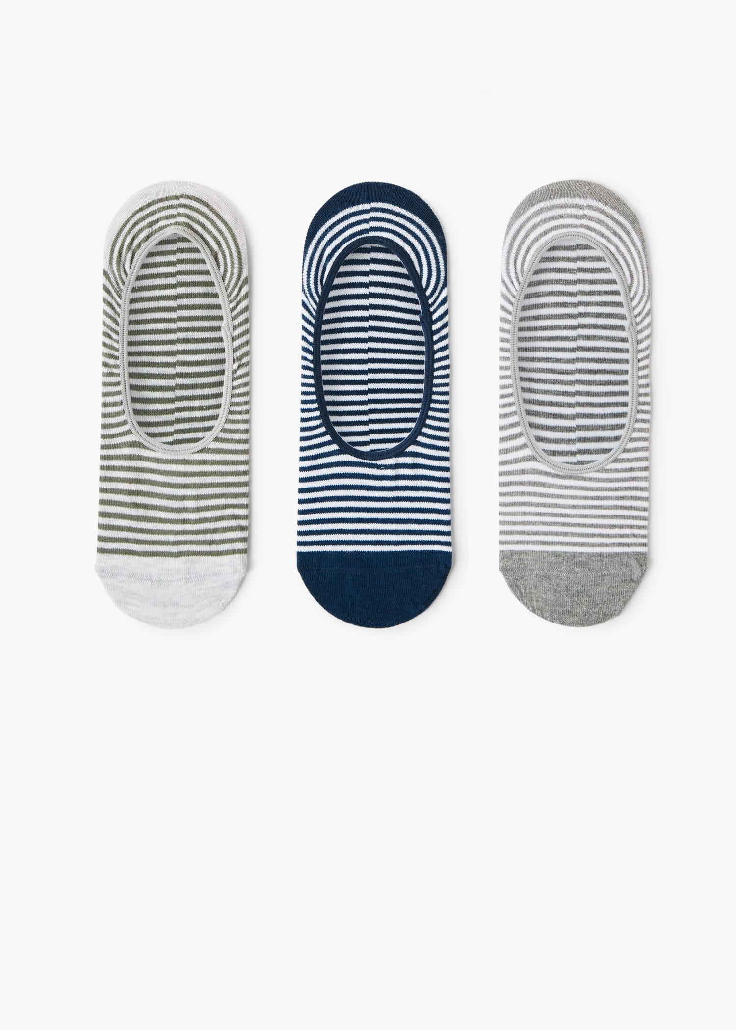 Pack striped invisible socks