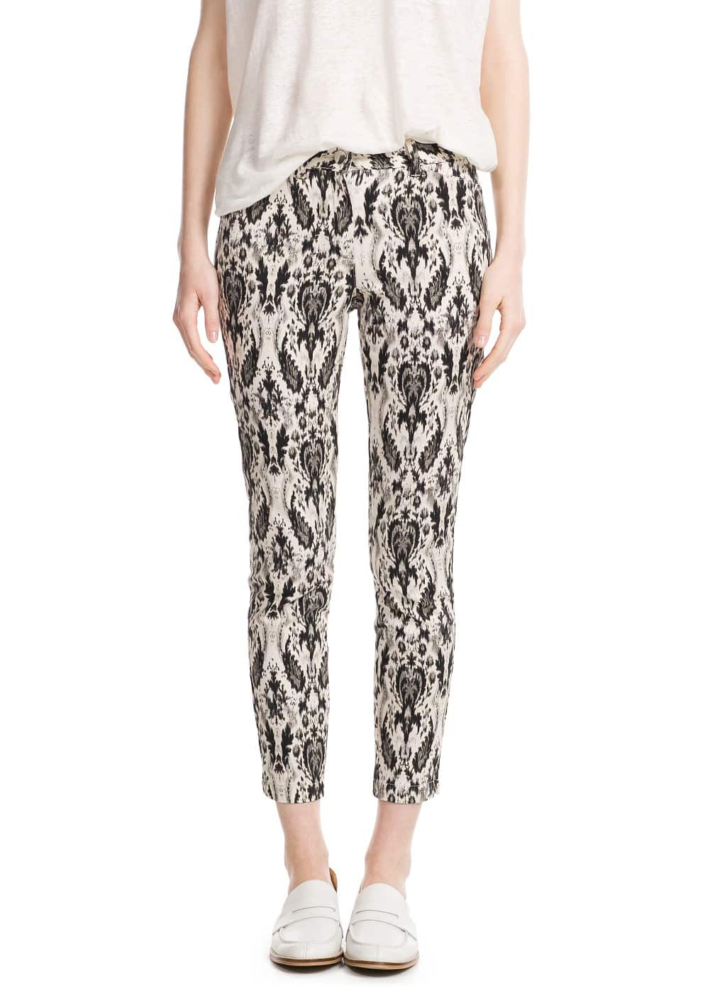 Baroque print trousers | MANGO