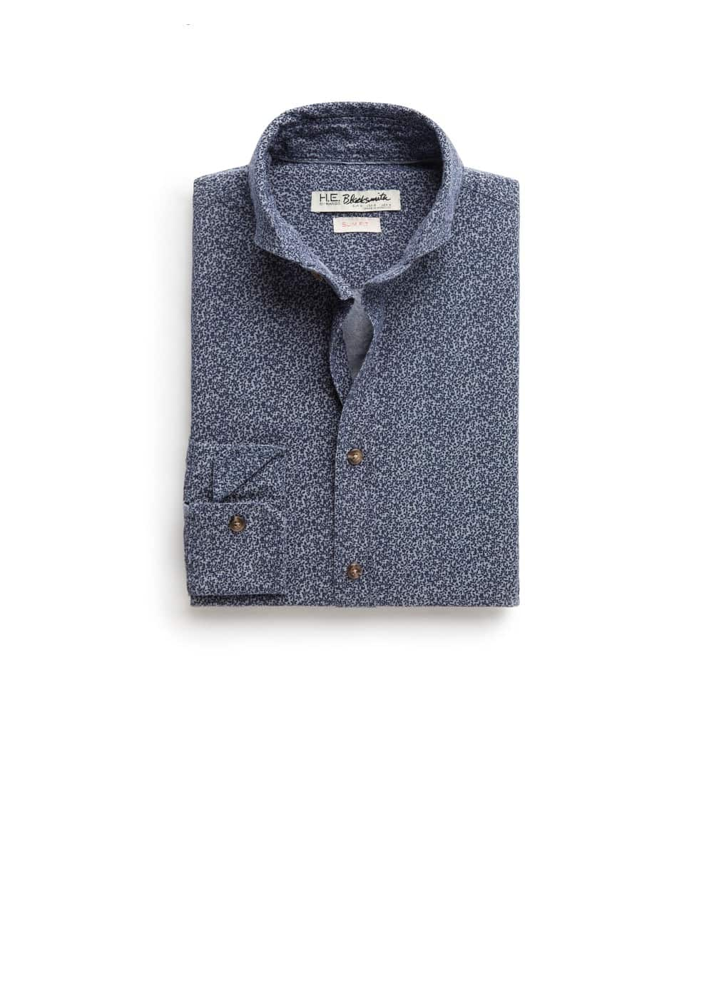 Slim-fit liberty print shirt | MANGO MAN