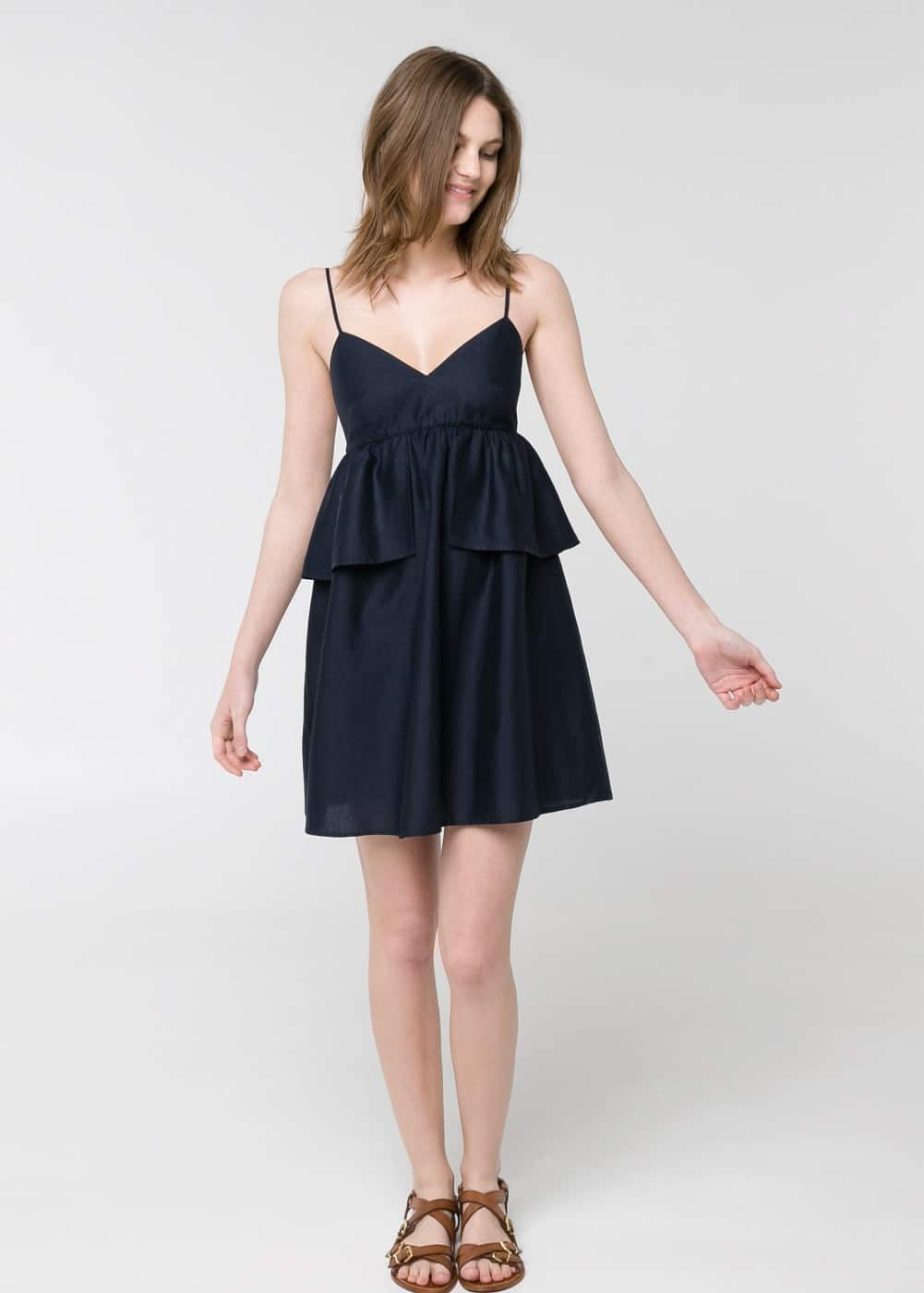 Ruffled strap dress